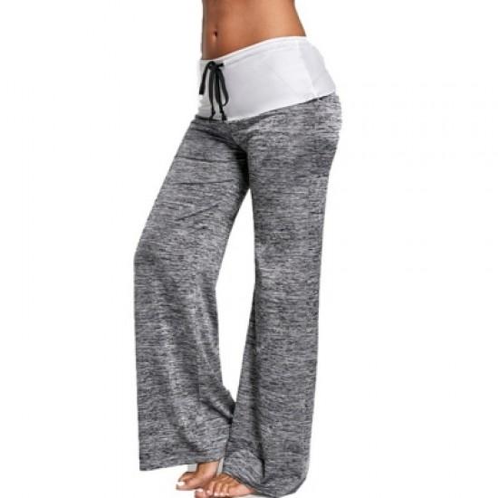 Women\'s stitching yoga leggings Slim-fit quick-drying sweatpants