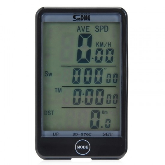 SD - 576C Waterproof Mode Touch Wireless Bicycle Computer Odometer