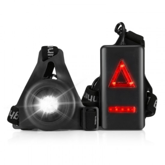 20M Lighting USB Charging Night Running Sports LED Light with Red Taillight