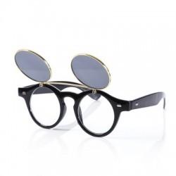 Punk Style Two Layer Flip Lens Sunglasses