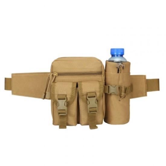 Camouflage Tactical Kettle Waist Bag Sports Water Bottle Pocket